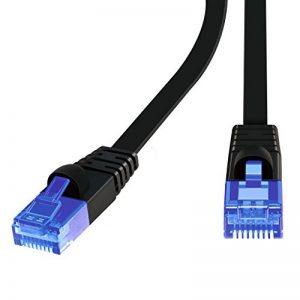 Plat Câble Réseaux Ethernet - ProElechain Patch Réseau Cordon CAT6 RJ45 Gigabit LAN 10Gbps-Compatible avec CAT5/CAT5e/CAT6- Pour Ordinateur en ligne/Switch/Modem/Xbox/PS4/Consoles de Jeux Vidéo/Boîtiers ADSL etc(20M) de la marque Pro Elechain image 0 produit