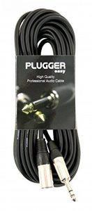 Plugger Câble XLR mâle 3b/mâle stéréo 10 m Noir de la marque Plugger image 0 produit