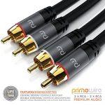 Primewire - 0,5m RCA Coaxial Audio Câble/Cinch Câble   Câble 2 x RCA mâle vers 2X RCA mâle   Connecteur entièrement métallique sur Mesure   Série HQ Premium   Design Cool Grey de la marque Primewire image 1 produit