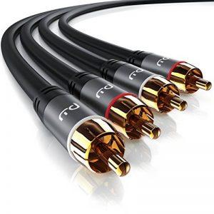 Primewire - 0,5m RCA Coaxial Audio Câble/Cinch Câble   Câble 2 x RCA mâle vers 2X RCA mâle   Connecteur entièrement métallique sur Mesure   Série HQ Premium   Design Cool Grey de la marque Primewire image 0 produit