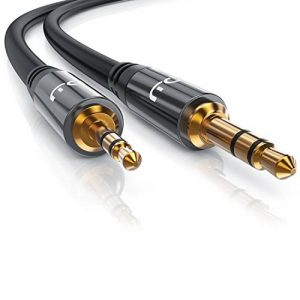 Primewire 1,0m Câble Jack/câble de Connexion Audio stéréo   câble Adaptateur Audio   fiche Jack Audio de Haute qualité de 2,5 mm à fiche Jack de 3,5 mm de la marque Primewire image 0 produit