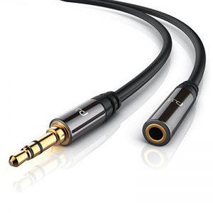 Primewire - 10m Câble jack audio | câble de connexion pour entrées / sorties AUX | Connecteur entièrement métallique sur mesure | prise 3,5 mm à fiche 3,5 mm (3 pôles) | Série HQ Premium de la marque Uplink image 0 produit