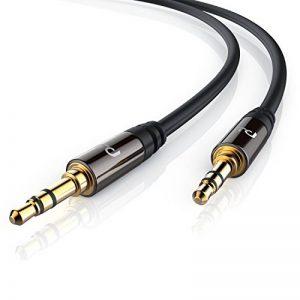 Primewire - 5m Câble jack audio | câble de connexion pour entrées AUX | Connecteur entièrement métallique sur mesure | 2 x Prise jack audio 3,5 mm (3 pôles) | Série HQ Premium de la marque Uplink image 0 produit
