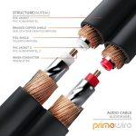 Primewire - RCA Audio Câble 2m HQ Stereo   Coaxial/Cinch Câble   Câble 2 x RCA mâle vers 2X RCA mâle   Connecteur entièrement métallique sur Mesure   Série HQ Premium de la marque CSL-Computer image 3 produit