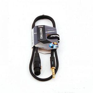 Proel Challenge Series Connecteurs Neutrik stéréo TRS Jack 6,3mm vers XLR femelle à 3broches 3 m de la marque Proel image 0 produit