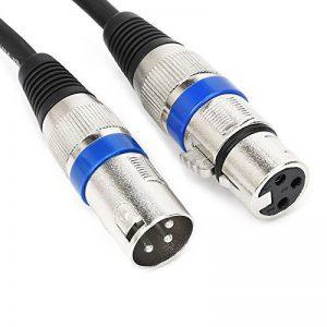 Professional 0.5m (49,5cm) câble audio symétrique XLR 3broches mâle vers 3broches XLR mâle Micro connecteur de câble (Xlr-m vers Xlr-m) de la marque JSJ image 0 produit
