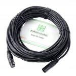 Pronomic Stage XFXM-20 Câble Micro XLR 20m noir Lot de 4 de la marque Pronomic image 1 produit