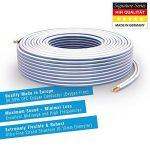 PureLink SP011-050 Câble d'enceinte 2 x 2,5mm² (99,9% OFC cuivre massif 0,10 mm) Câble de haut-parleur Hifi, 50m, blanc de la marque PureLink image 1 produit