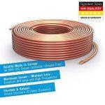 PureLink SP060-010 Câble d'enceinte 2 x 2,5mm² (99,9% OFC cuivre massif 0,20 mm) Câble de haut-parleur Hifi, 10m, transparent de la marque PureLink image 1 produit