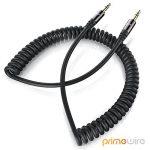 PW - 1,5m Câble spirale jack audio | câble stéréo de connexion pour entrées / sorties AUX | Connecteur entièrement métallique sur mesure | 2 x Prise jack audio 3,5 mm (3 pôles) | Série HQ Premium de la marque Uplink image 2 produit