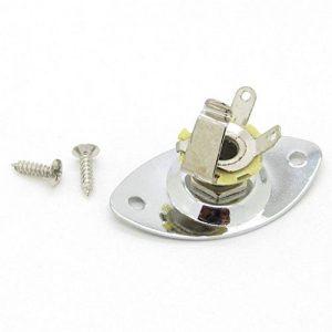 Pxyelec Chrome ovale denté 1/10,2cm Sortie Micro pour guitare prise jack d'entrée de la marque Pxyelec image 0 produit