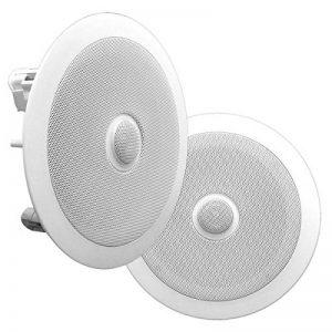 Pyle PDIC60 haut-parleur 125 W Blanc - Hauts-parleurs (2.0 canaux, Avec fil, Terminal, 125 W, 65-22000 Hz, Blanc) de la marque Pyle image 0 produit