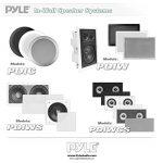 Pyle PDIC60 haut-parleur 125 W Blanc - Hauts-parleurs (2.0 canaux, Avec fil, Terminal, 125 W, 65-22000 Hz, Blanc) de la marque Pyle image 3 produit