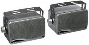 """Pyle PLMR24S Paire d'enceintes Haut parleurs de 3.5 """" (8.9 cm) imperméables avec une puissance de 200 Watts - Argent de la marque Pyle image 0 produit"""