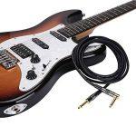Rayzm Câble Guitare 3 mètres - Noiseless Guitare / Basse Lead, Câble D'instrument Mono Mâle TS 1/4 Jack Droit et Angle Droit - Jacks Connexion en Cuivre/ Contacts Or de la marque Rayzm image 2 produit