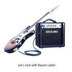 Rayzm Câble Tressé Blindé 3 mètres pour Guitare/ Guitare Basse, Câble pour Instrument Mono Mâle Coudé 1/4 Inch (6.35mm) Tweed Tissé - Bleu de la marque Rayzm image 3 produit