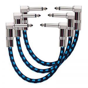 Rayzm Guitare Patch Câble,15cm Cordons Patch pour Pédales D'effet Guitare/Basse de la marque Rayzm image 0 produit
