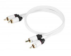 Real Cable 2RCA-1/0M50 Câble RCA Double Blindage 0.5 m Blanc de la marque Real Cable image 0 produit