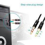 ReaLink Câble Audio Adaptateur 3.5mm Jack Stéréo Audio Micro Mâle vers Femelle en Aluminium pour Ordinateur de Bureau Ordinateur Portable Ecouteur Casque (1 Pack) de la marque ReaLink image 2 produit