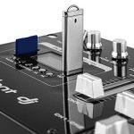 Resident DJ DJ405USB-BK Table de mixage 4 voies avec crossfader et port USB pour DJ (avec prise casque, entrée micro, bluetooth, enregistreur, carte SD, MP3) de la marque Resident DJ image 4 produit