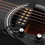SILENCEBAN 12 transducteur de guitare SoundHole transducteur électro-acoustique pour préampli magnétique de guitare acoustique avec réglage de la tonalité et du volume, longueur de câble de 10 ft de la marque SILENCEBAN image 3 produit