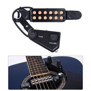 SILENCEBAN 12 transducteur de guitare SoundHole transducteur électro-acoustique pour préampli magnétique de guitare acoustique avec réglage de la tonalité et du volume, longueur de câble de 10 ft de la marque SILENCEBAN image 0 produit