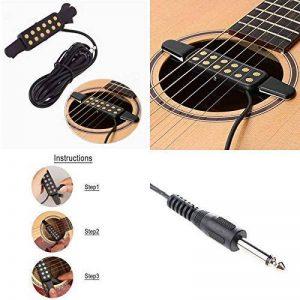 Silenceban Micro pour guitare électrique acoustique transducteur pour guitare acoustique, longueur de câble 3m de la marque Silenceban image 0 produit