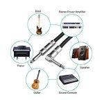 Sinhery - Câble tressé pour guitare électrique - 3 m - Prise jack droite vers jack coudée 3 m gris de la marque Sinhery image 2 produit