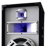 """Skytec Pack Enceintes • Paire d´Enceinte de sonorisation passives 25cm (10"""") • Puissance Max 400W • Effets d'éclairage à LED Bleues réagissant à la Musique de la marque Skytec image 4 produit"""