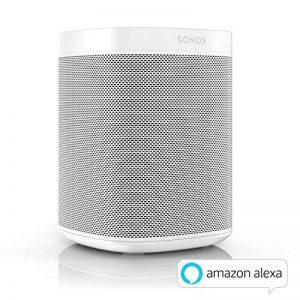 Sonos One Enceinte sans-fil multiroom wifi avec le service vocal Amazon Alexa intégré – Blanc de la marque Sonos image 0 produit