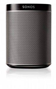 Sonos Play:1 Enceinte sans-fil multiroom wifi, haut-parleur hifi connecté pour diffuser votre musique préférée à partir de votre téléphone (iPhone, Android), tablette et ordinateur PC/Mac - Noir de la marque Sonos image 0 produit