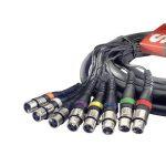 Stagg SML5/8XF8XM E Câble multicore 8 x XLR Femelles-8 x XLR Mâles 5 m Noir de la marque Stagg image 1 produit