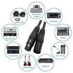 Super long symétrique Câbles micro, LoongGate XLR 3 broches Mâle Femelle Microphone Blindé Câble Audio (10m/33ft, noir) de la marque LoongGate image 1 produit