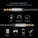 Syncwire Cable Jack Câble Audio Auxiliaire 3.5mm Cordon Aux Stéréo Male pour Voiture iPhone X/8/8 Plus/7/7 Plus/6/6 Plus, iPod, iPad, Casque, Autoradio, Smartphones, MP3, Beats, Echo Dot - 1M/Noir de la marque Syncwire image 2 produit