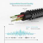 Syncwire Splitter Audio Jack Double Jack 3.5mm Mâle vers 2 Femelle - Splitter Audio Jack pour Casques Audio, Enceintes, Smartphones, Tablettes, Lecteurs MP3 et Plus - 23cm Noir de la marque Syncwire image 4 produit