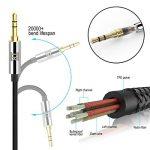 TechRise Câble Jack Audio, [ 2 pièces ] Cable Jack Auxiliaire Audio Stéréo 3.5mm en Nylon pour iPhone, iPad, iPod, Voiture, Casque, Echo Dot 2, Portables, Smartphones, MP3 - 1.5m de la marque TechRise image 4 produit
