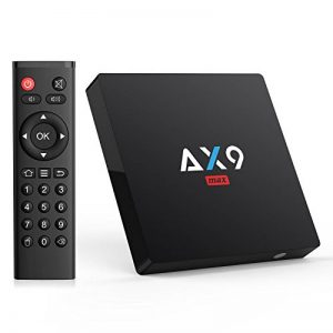 TICTID 2018 4K TV Box Android 7.1【2G + 16G】 avec Mini Clavier Touchpad AX9 Max WiFi IEEE 802.11 b/g/n 2.4G Quad-Core 64-bit True 4K Play H.265 de la marque TICTID image 0 produit