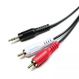 Top-Longer Câble Adaptateur Jack Mâle 3.5mm Vers RCA INCH Mâle Stéréo - 150 cm de la marque Top-Longer image 0 produit