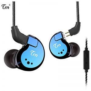 TRN V80 In Ear Écouteurs Stéréo avec Micro Écouteurs En Métal, Yinyoo Quatre Pilotes 2DD + 2BA HIFI Hybride In Ear Monitor avec Câble 2 Broches Détachable (Bleu Avec Micro) de la marque Yinyoo image 0 produit