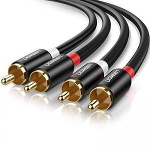 UGREEN 2M RCA Audio Câble 2 RCA Mâle vers 2 RCA Mâle Cinch Câble Audio en Aluminium Compatible avec Enceinte Amplificateur HiFi Chaîne Caisson de Basse Connecteur Plaqué Or de la marque UGREEN image 0 produit