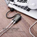 UGREEN Carte Son Externe Adaptateur USB Audio vers 3,5mm Compatible avec PS4, Raspberry Pi, Casque Gamer, Enceinte, Microphone, Mac, Mac Mini, PC etc. Plug Play (Noir) de la marque UGREEN image 3 produit