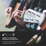 UGREEN Câble Audio Jack 3.5mm vers 6.35mm Stéréo Jack Nylon Tressé 3.5mm Mâle vers 6.35mm Mâle pour iPhone iPod Samsung S9+ Amplificateur Chaîne Hifi Lecteurs de DVD Haut-Parleurs Table de Mixage etc. (2 M) de la marque UGREEN image 3 produit