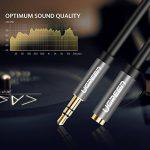 UGREEN Câble Extension Audio Rallonge Jack 3.5mm Mâle vers Femelle avec Embouts Aluminium (3 M, Noir) de la marque UGREEN image 2 produit