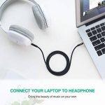 UGREEN Câble Jack Auxiliaire Audio Stéréo 3.5mm Mâle Mâle en Nylon Tressé Compatible avec iPhone iPod iPad Autoradio Casque Smartphone Tablette (1 M, Noir) de la marque UGREEN image 4 produit