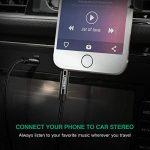 UGREEN Câble Jack Auxiliaire Audio Stéréo 3.5mm Mâle Mâle en Nylon Tressé Compatible avec iPhone iPod iPad Autoradio Casque Smartphone Tablette (1 M, Noir) de la marque UGREEN image 3 produit