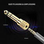 UGREEN Lot de 2 Adaptateur Jack 6.35mm Mâle vers 3.5mm Femelle Audio Jack 6.35 3.5 Plaqué Or pour Guitare Électrique Piano Amplificateur Chaîne HiFi Smartphone Tablette de la marque UGREEN image 4 produit