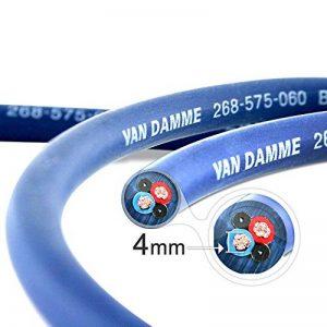 Van Damme professionnelle Bleu Studio Series Grade 2 x 4 mm (12AWG) - Câble haut-parleur 4M de la marque Van Damme image 0 produit