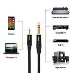 VCE 3,5 mm à 6,35 mm TRS Stereo Jack Câble Audio pour iPhone, Tablette, Lecteurs de DVD, Haut-parleurs, Table de Mixage etc.-3m de la marque VCE image 4 produit