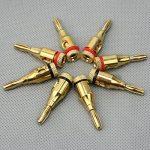WINOMO Banane Bullet 8pcs 4MM plaqué or Musical haut-parleur fil banane fiche connecteur câble de la marque WINOMO image 2 produit