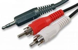World of Data Mini Jack stéréo 3,5mm vers Double RCA Phono Rouge/Blanc/Noir Audio Aux Câble de raccordement–1.2m à 10m de la marque World of Data image 0 produit